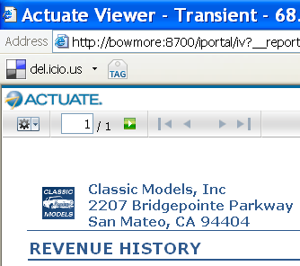 Actuate BIRT Interactive Viewer Web 2.0 デザインパターンの 採 用 Actuate 10 では さらに Web 2.