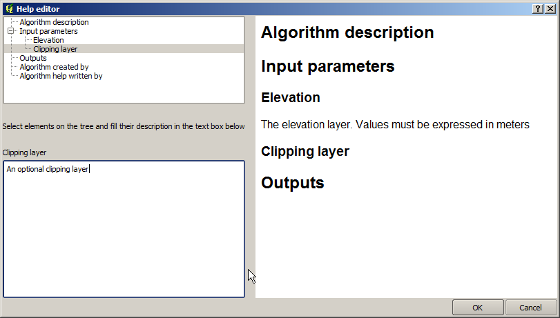 Figure 17.23: Help Edition 17.3.8 About available algorithms You might notice that some algorithms that can be be executed from the toolbox do not appear in the list of available ones when you are designing a model.