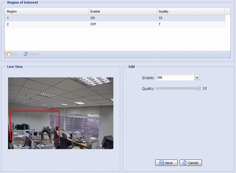area(s). Users could specify two areas in the camera view. 3.