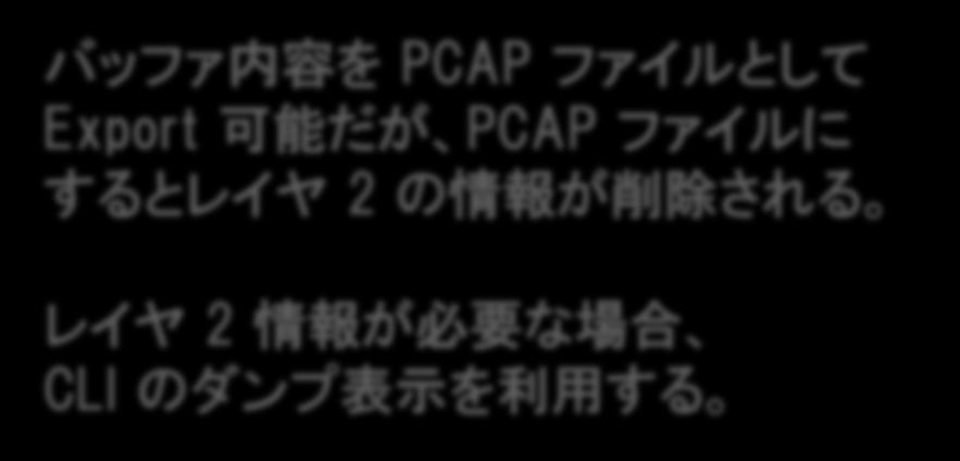 EPC バッファー 内 容 表 示 例 サマリー 表 示 07:14:48.571 UTC Jul 3 2014 : IPv4 LES CEF : Gi0/1 None 07:14:48.571 UTC Jul 3 2014 : IPv4 LES CEF : Gi0/1 None 07:14:48.571 UTC Jul 3 2014 : IPv4 LES CEF : Gi0/1 None 07:14:48.575 UTC Jul 3 2014 : IPv4 LES CEF : Gi0/1 None 07:14:48.