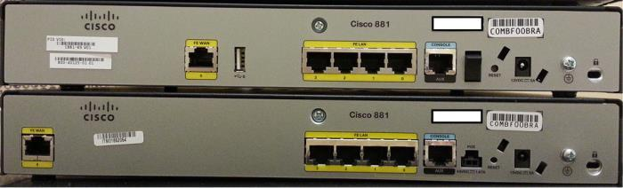 New Hardware Cisco 881 (C881-K9) 2014 年 4 月 提 供 開 始 1 FE WAN 1 USB 2.