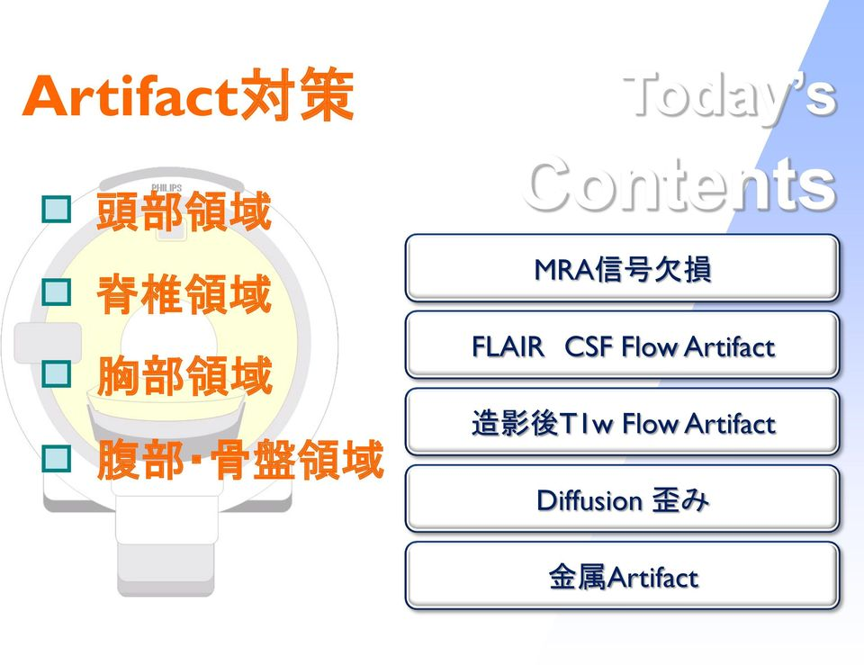 欠 損 FLAIR CSF Flow Artifact 造 影 後 T1w