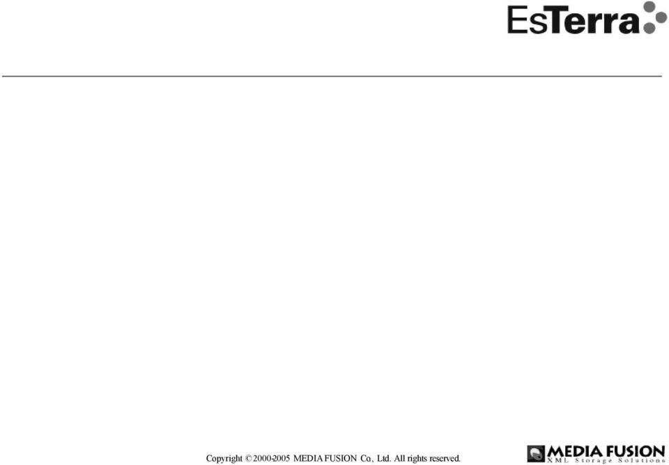 XML Storage Server XSS DB EsTerra