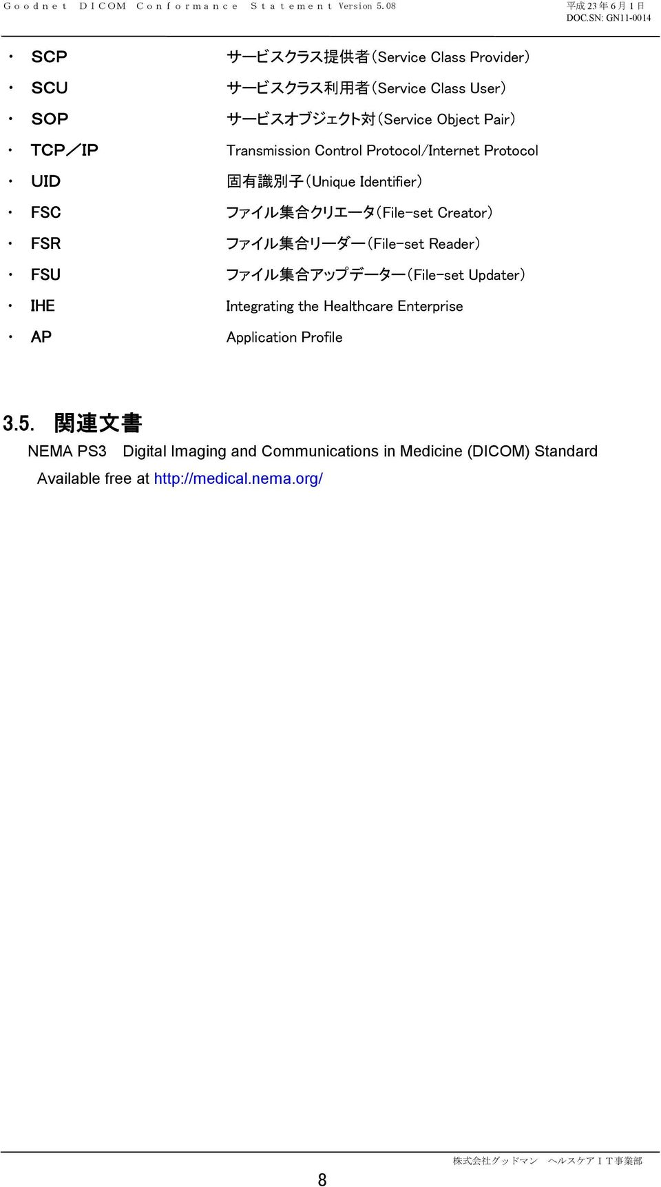 集 合 リーダー(File-set Reader) FSU ファイル 集 合 アップデーター(File-set Updater) IHE Integrating the Healthcare Enterprise AP Application