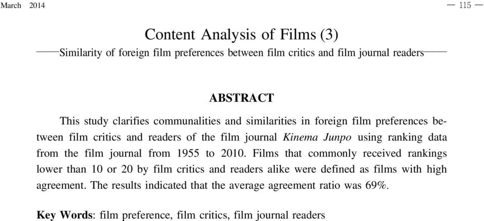 ranking data from the film journal from 9 to.
