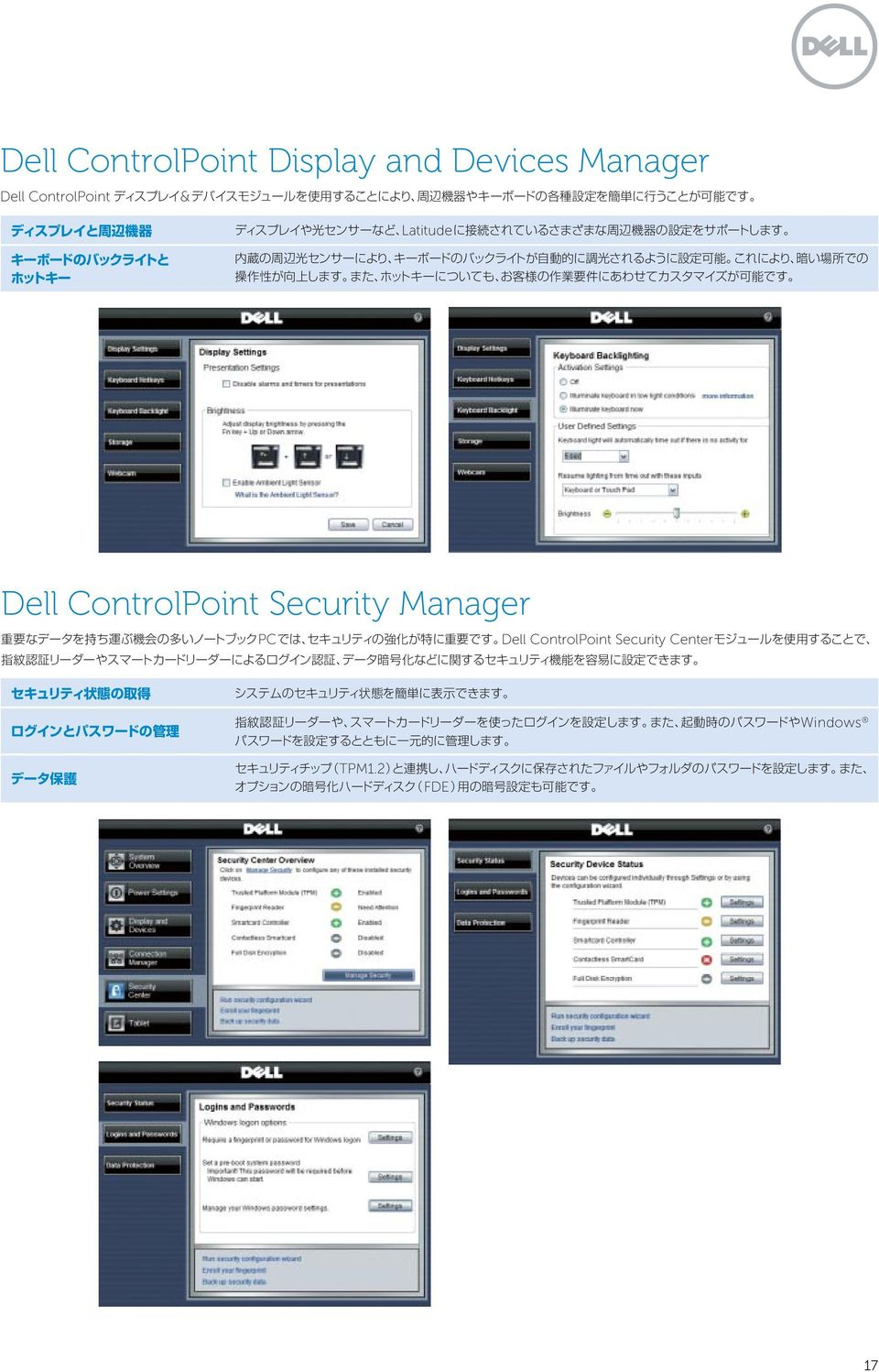 ControlPoint Security Manager PC Dell