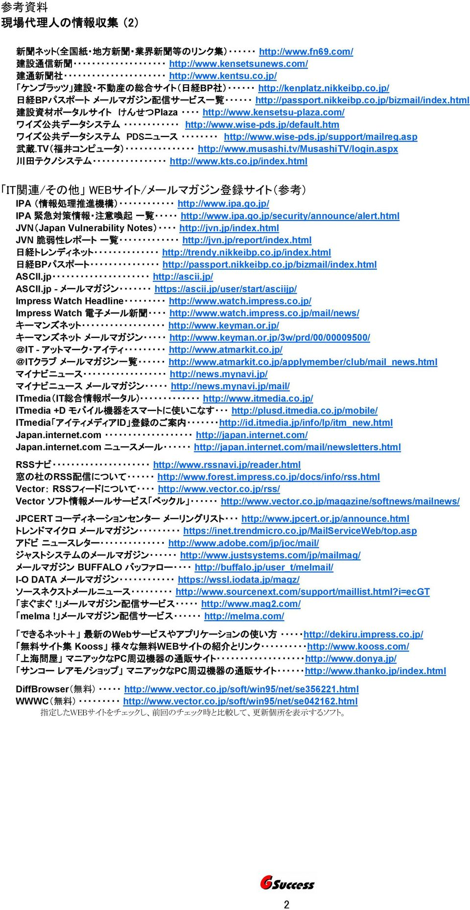 jp/default.htm ワイズ 公 共 データシステム PDSニュース http://www.wise-pds.jp/support/mailreg.asp 武 蔵.TV( 福 井 コンピュータ) http://www.musashi.tv/musashitv/login.aspx 川 田 テクノシステム http://www.kts.co.jp/index.