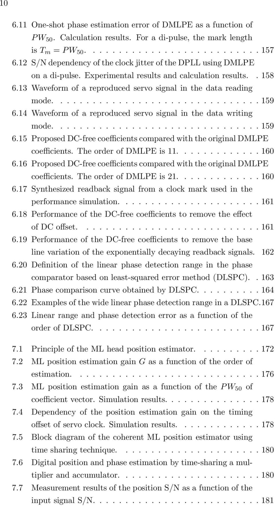 ............................... 159 6.14 Waveform of a reproduced servo signal in the data writing mode................................ 159 6.15 Proposed DC-free coefficients compared with the original DMLPE coefficients.