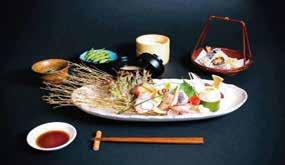 sushi & 6 cucumber rolls Main dish, with choice of black cod in miso or salmon teriyaki or chicken teriyaki or