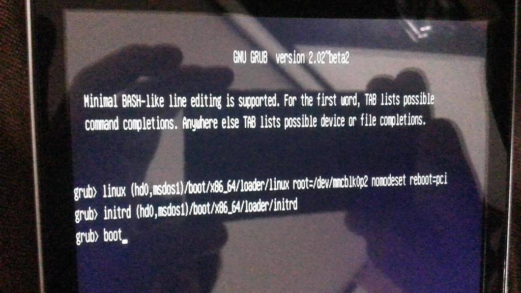 Install opensuse 42.2 on Tablet 10 Disable Secure boot on UEFI.