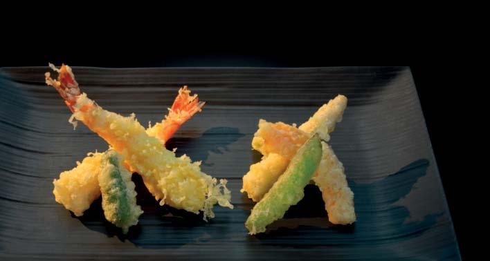 t e m p u r a 天ぷら 野菜の天ぷら Gemüse Tempura Tempura of vegetables Tempura de légumes 27.- 天ぷら盛り合わせ Gemischte Tempura Assortment of Tempura Sélection de Tempura 35.
