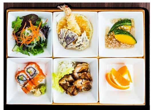 LUNCH SET MENU All Bento Sets are accompanied with Chef s Selection Maki or Japanese Niigata rice, Salad, Tempura Mori, Kobachi, Miso Soup and Green Tea unless otherwise stated.
