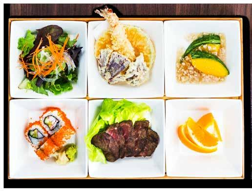 LUNCH SET MENU All Bento Sets are accompanied with Chef s Selection Maki or Japanese Niigata rice, Salad,