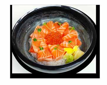 9 ちらし丼 Chirashi Don Chef s selection of assorted sashimi.