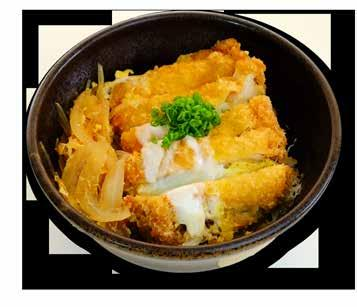 DONBURI All Donburi are accompanied with Miso Soup and