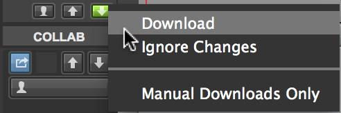 Abandon Changes Manual Uploads Only Upload All New Changes Upload Ruler Changes Upload All
