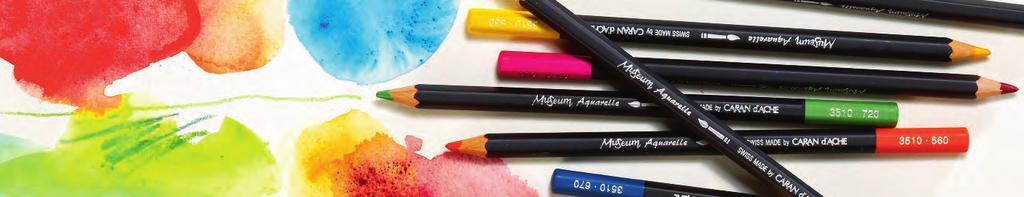 MUSEUM AQUARELLE : innovative water-soluble approach in a pencil form is not only a water-soluble pencil; it is a watercolour in a pencil form.