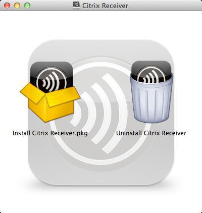 7. [Citrix Receiver] ダゕログが表示されたら [Install Citrix Receiver.