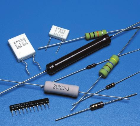Leaded Resistors The industry s broadest line of leaded resistors and networks include designs with various material composition and structure for use in general purpose, precision, anti-surge, high