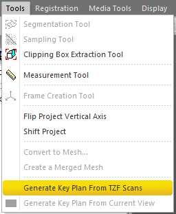 Generate Key Plan From TZF
