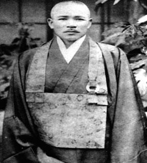 Genyū Usa (1886 1957), founder of Sansei Hospital, in his clerical garment, circa