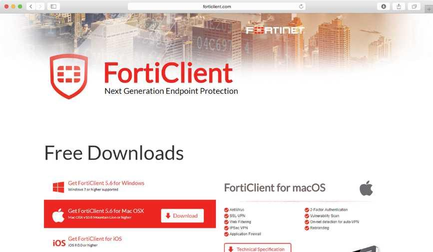 macos の場合 (1)FortiClient