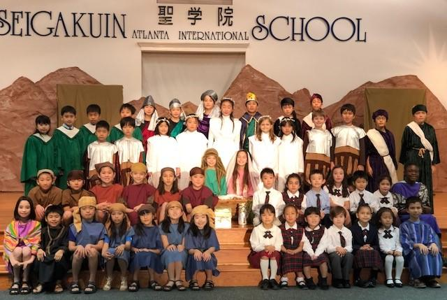 Final Pageant, yet the Beginning of New by Norihiro Sasayama, Elementary Head Teacher This year, the SAINTS Elementary Pageant took place one day after the kindergarten pageant just like previous