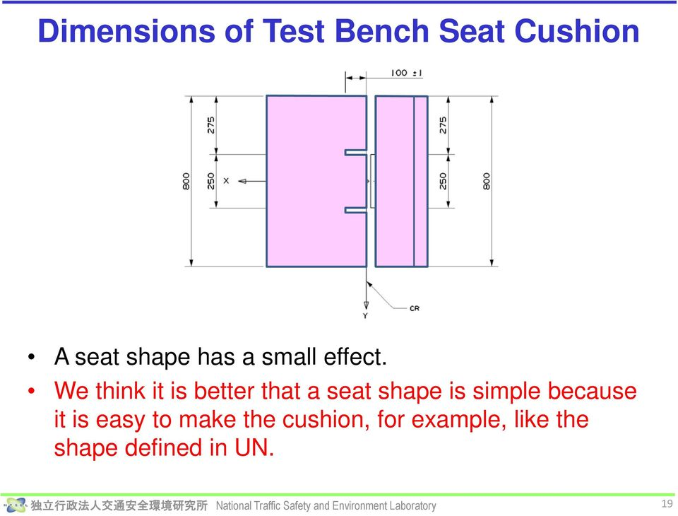 We think it is better that a seat shape is simple