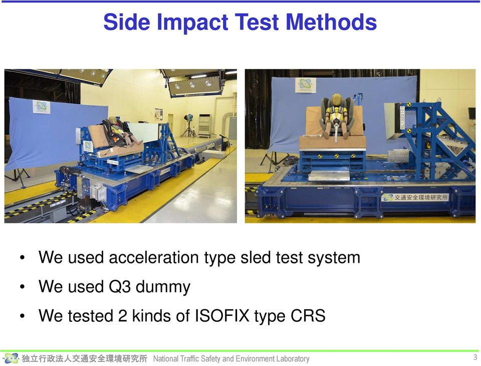 test system We used Q3 dummy