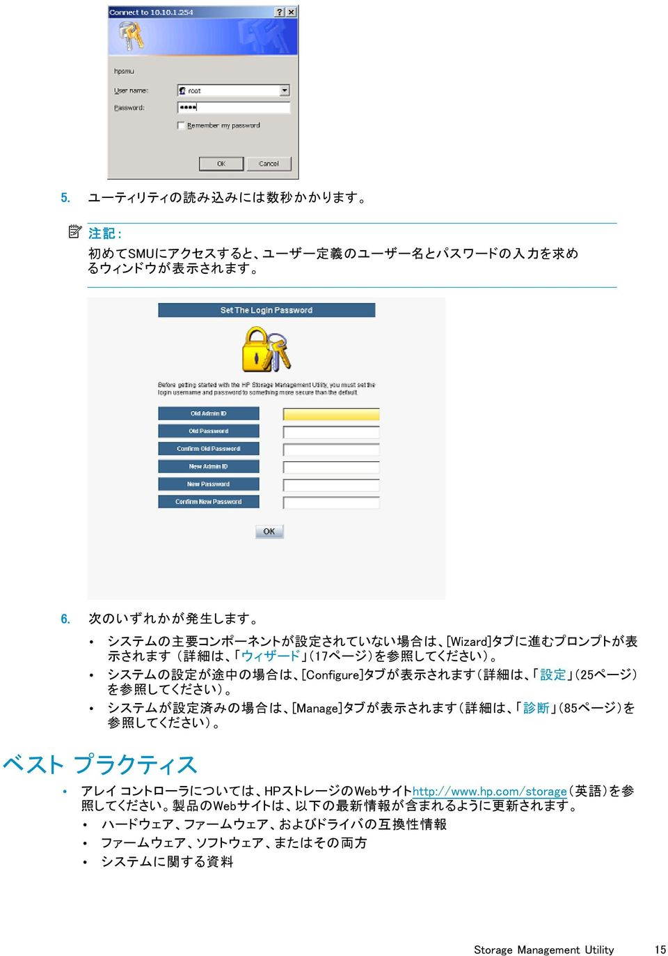 HP Storage Management Utility user guide - PDF