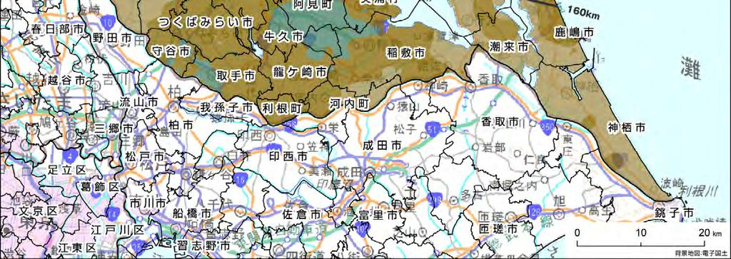 Cs-137 on the ground surface in Ibaraki prefecture) Legend Accumulation of
